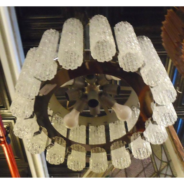 Round Chandelier With Crackle Glass For Sale - Image 4 of 8