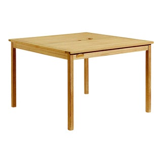 Teak Outdoor Dining Table, Natural For Sale