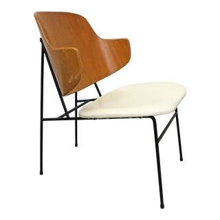 Vintage Mid-Century Danish Modern Ib Kofod Larsen Selig Penguin Accent Chair For Sale