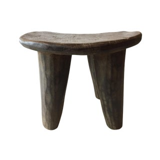 "African Senufo Wood Kids Milk Stool I . Coast 12. "" W"
