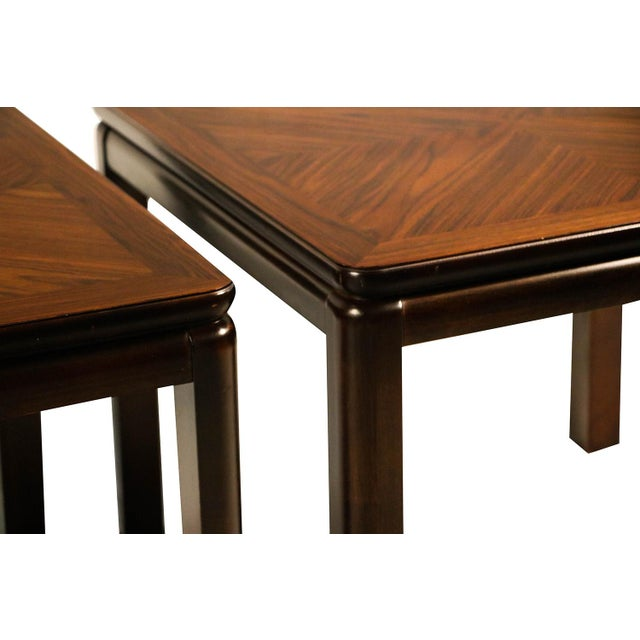Lane Furniture Pair Mid Century Lane Rosewood Side Tables For Sale - Image 4 of 11