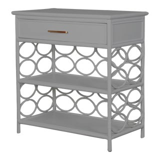 Infinity End Table - Light Gray For Sale