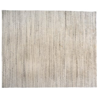 """Diamonds and Stripes Wool Rug - 7'10"""" X 9'9"""" For Sale"""