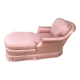 Upholstered Pink Cotton Chaise For Sale