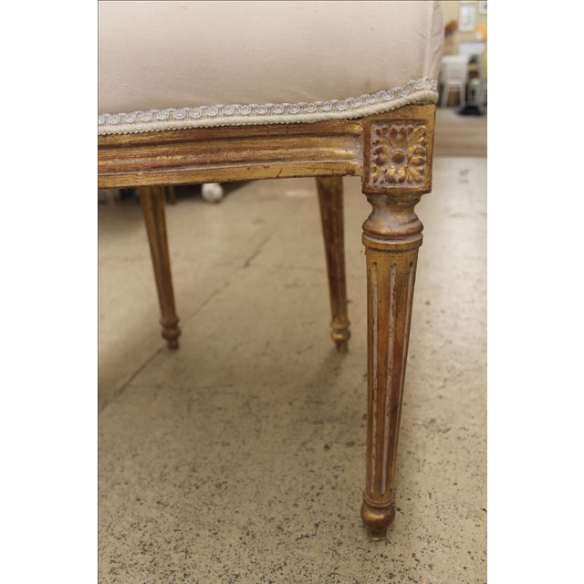 French Louis XVI Gilt Cane Caned Chairs - Set of 6 - Image 6 of 6