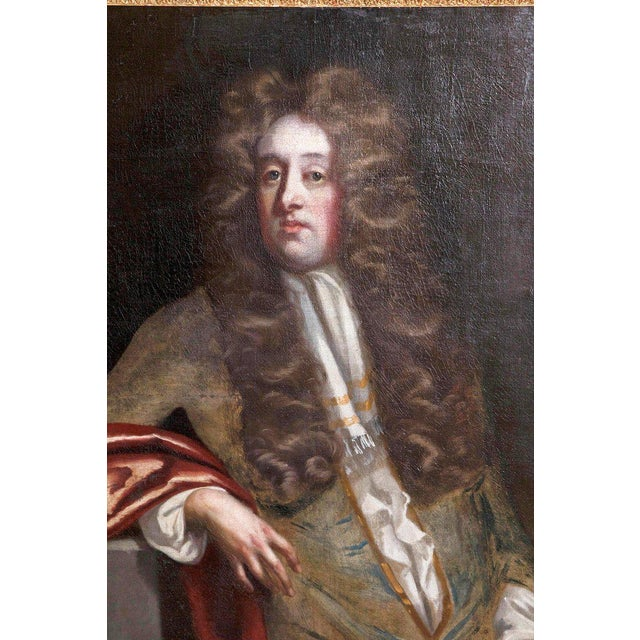 18th Century Oil on Canvas Portrait of an English Gentleman For Sale - Image 4 of 13