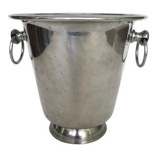 Vintage Silver Tone Aluminum Ice Bucket