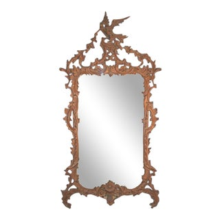 Italian Chippendale Style Carved Mirror For Sale