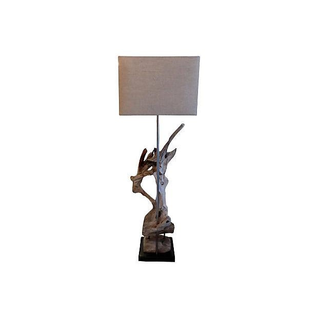 Contemporary Custom Driftwood Floor Lamp For Sale - Image 3 of 6