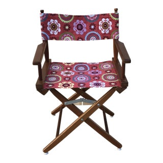 Vintage Red Folding Director's Chair For Sale