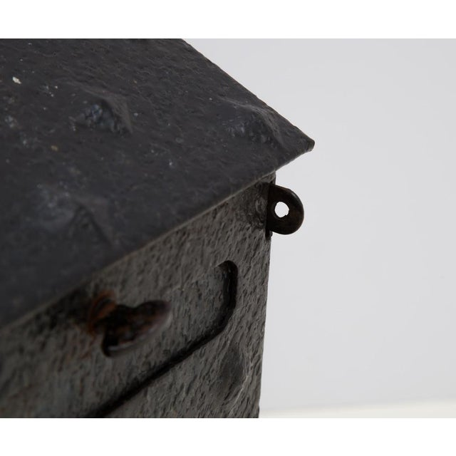 MIssion Tudor Gothic Iron House Mailbox For Sale - Image 4 of 9