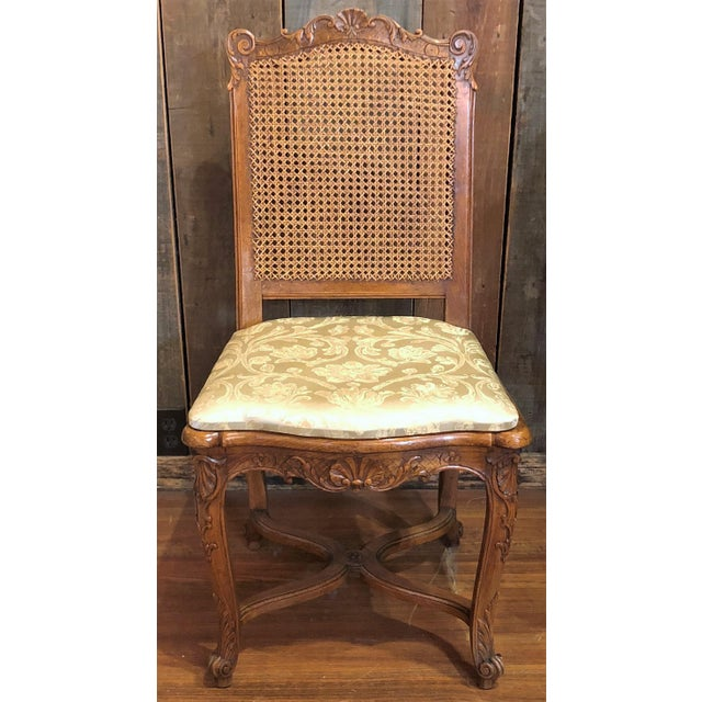 """Set of 10 Antique French Walnut Carved Dining Chairs, Circa 1860-1880. Seat Height is 19"""""""