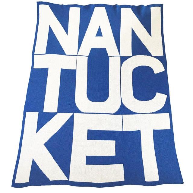 Royal Blue Liz Roache Nantucket Throw, Blue For Sale - Image 8 of 8