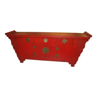 1900s Chinese Antique Red Sideboard