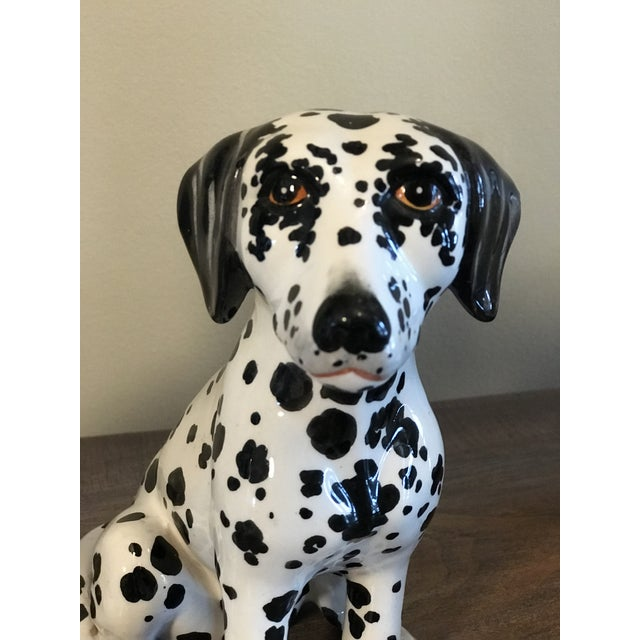 Vintage Italian Ceramic Dalmatian Figurines - a Pair For Sale In Chicago - Image 6 of 10