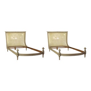Neoclassical Style Twin Beds - a Pair