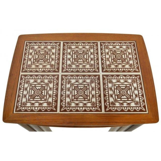 Danish Tile Top Nesting Tables - Set of 3 - Image 3 of 4