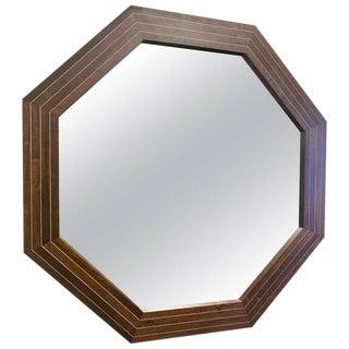 Custom Solid Rosewood Octagonal Mirror
