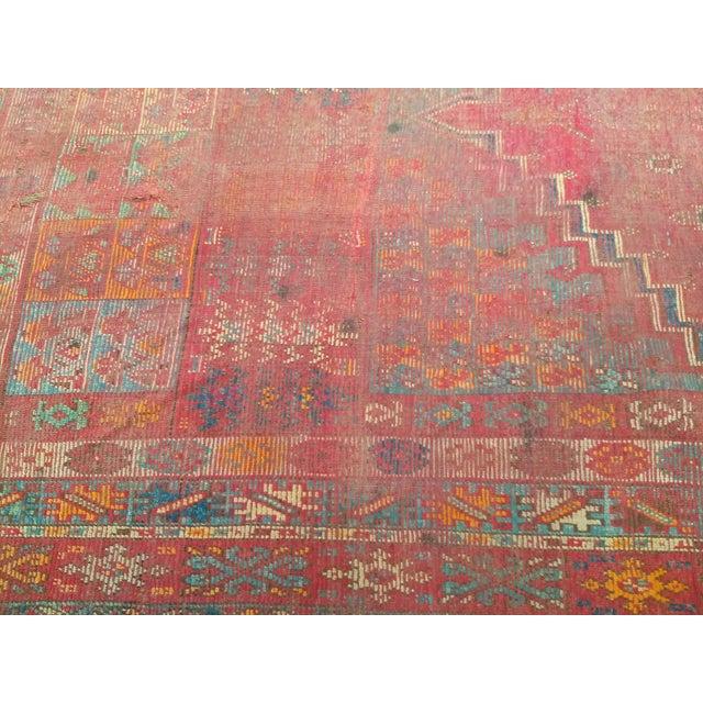 Orange 19th Century Moroccan Village Rug - 5′10″ × 14′5″ For Sale - Image 8 of 13