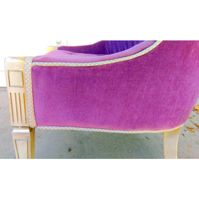 Vintage Lilac Slipper Chair - Image 8 of 8