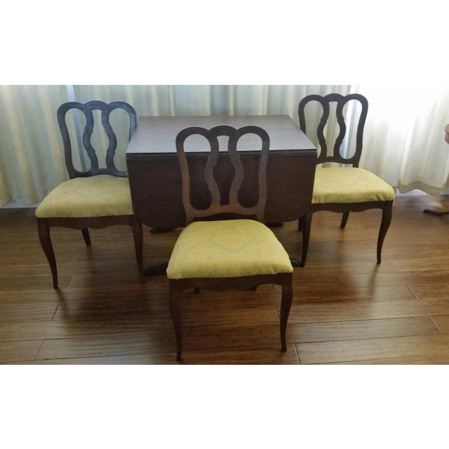 Chippendale Duncan Phyfe-Style Craddock Dining Set For Sale - Image 3 of 7