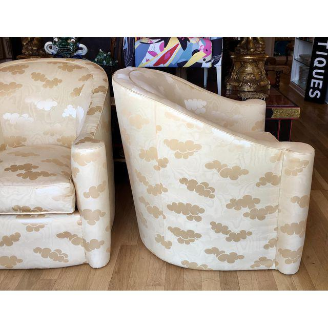 Art Deco Mid-Century Modern Barrel Club Chairs - A Pair For Sale - Image 3 of 5