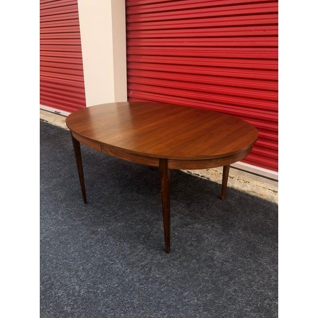 Mid Century Modern Oval Dining Table In Walnut Chairish