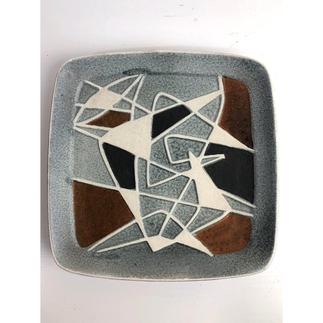 Ceramic 1960's Bodo Mans for Bay Art Pottery Plate West Germany For Sale - Image 7 of 7