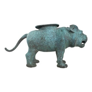 Traditional Chinese Bronze Imperial Guardian Companion Dog Architectural Ornament For Sale