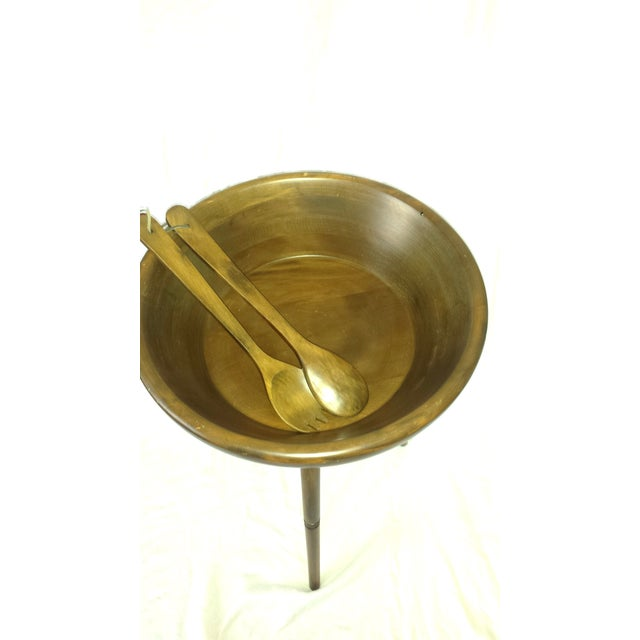 Mid-Century Modern Mid-Century Modern Tripod Salad Bowl For Sale - Image 3 of 7
