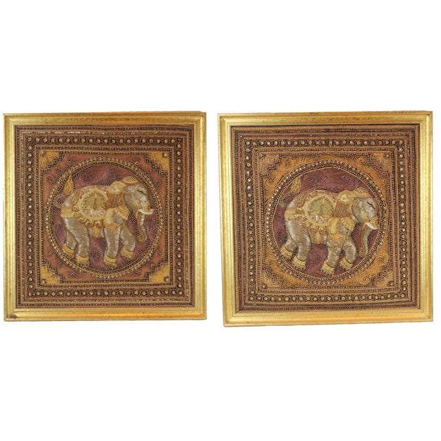 Pasargad DC Hand Made India Beaded Elephant Raised Wall Art - A Pair For Sale - Image 11 of 11