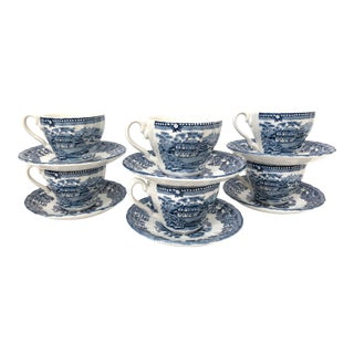 Myott Tonquin Demitasse Cups & Saucers - Set of 6 For Sale
