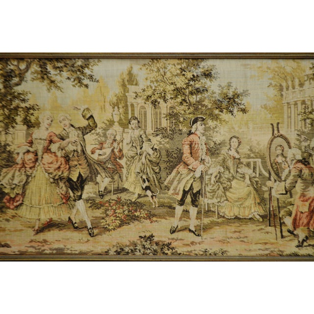 Early Framed Tapestry Wall Art - Image 5 of 11