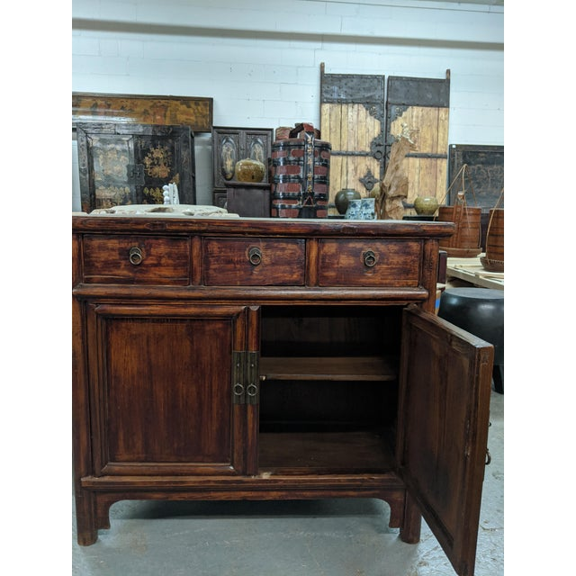 Countryside Three-Drawer Chinese Cabinet For Sale In Boston - Image 6 of 7