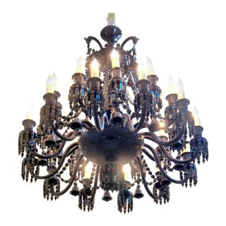 Philippe Starck Baccarat Crystal Zenith 24 Light Chandelier For Sale