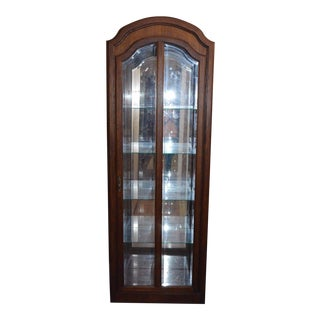 Pulaski Oak Curio Beveled Glass Lighted China Cabinet Closet Display