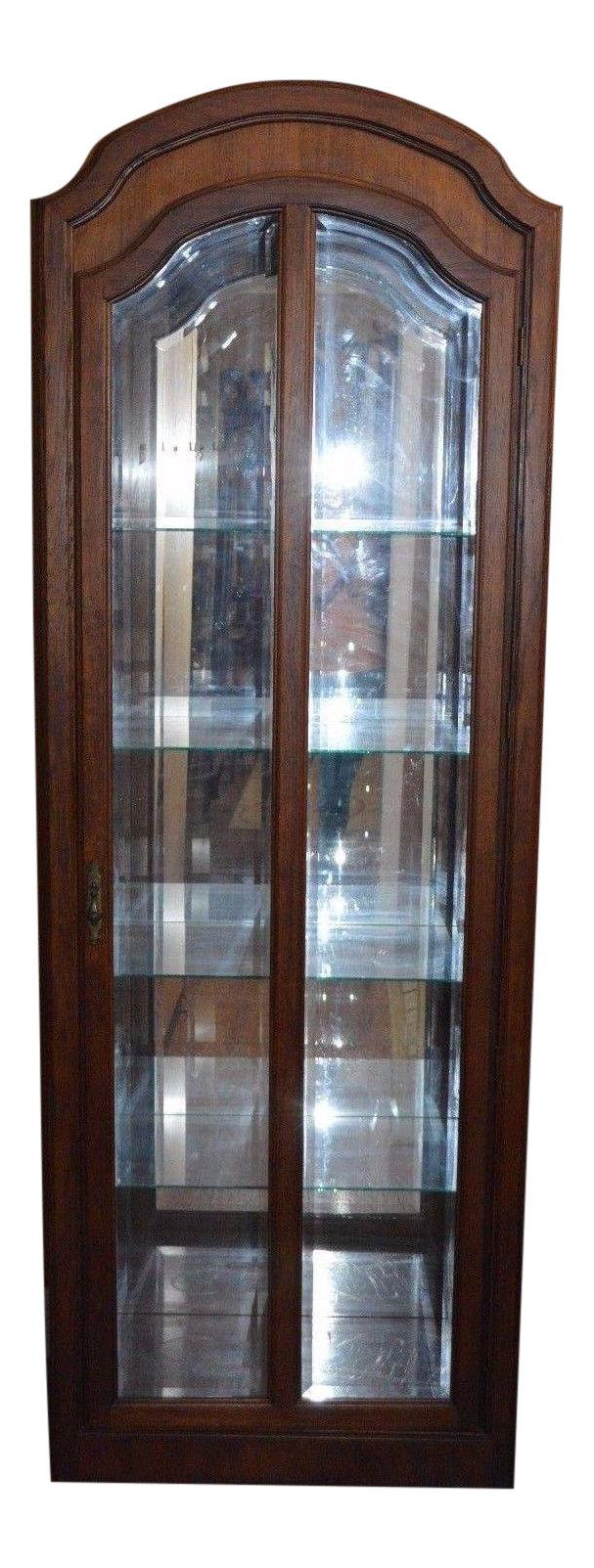 Pulaski Oak Curio Beveled Glass Lighted China Cabinet Closet Display