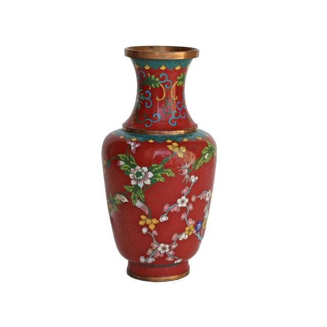 Large Red Cloisonne Vase - Image 1 of 5