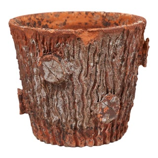 Tree Trunk Shape Terra Cotta Pot For Sale