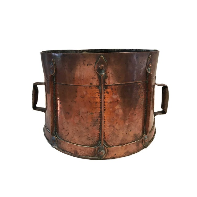 Copper 18th Century French Louis XV Log Holder or Fireside Basket For Sale - Image 8 of 11