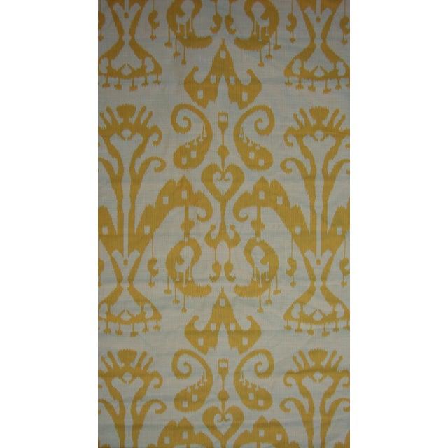 Set of 4 Custom Yellow Gold Cream Ikat Shades - Image 4 of 10