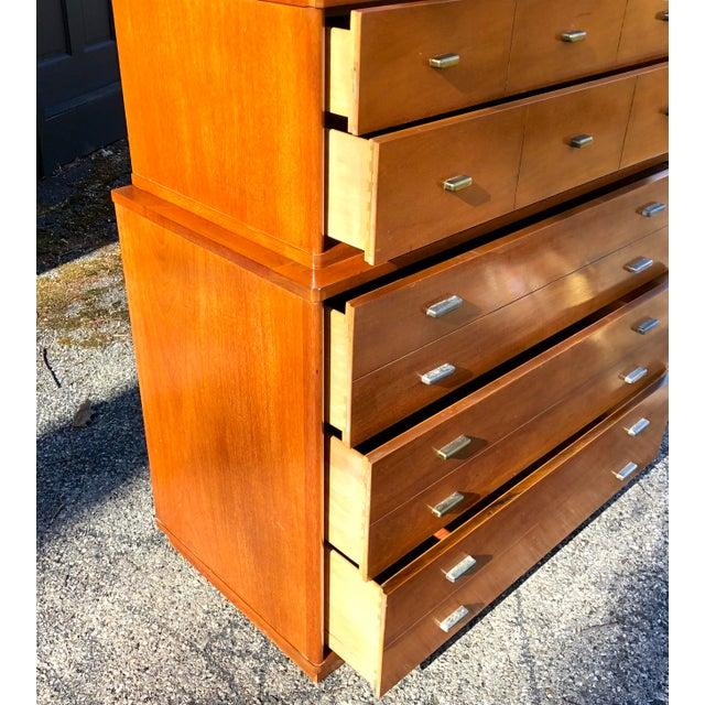 Mid-Century Modern 1960s Mid Century Modern Drexel Mahogany High Boy Dresser For Sale - Image 3 of 10