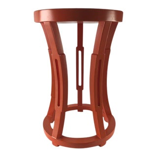Bungalow 5 Hourglass Stool Side Table Orange For Sale