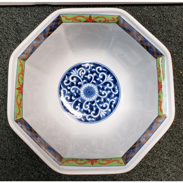 """Up for sale is a Vintage 1970's Japanese Takahashi Imari Style Porcelain Octagonal Bowl! It measures 3 5/8"""" tall and 7..."""
