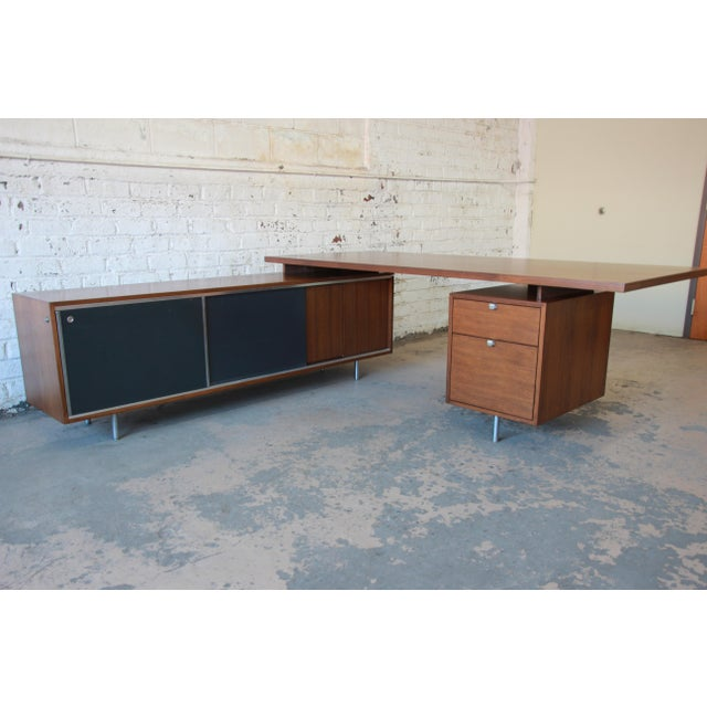 George Nelson for Herman Miller L-Shaped Executive Desk, 1950s For Sale - Image 13 of 13