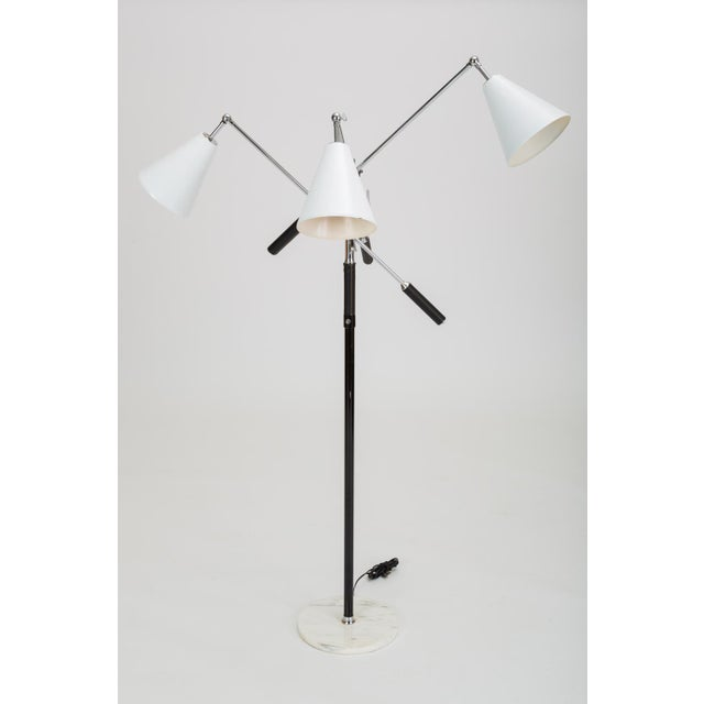 Three-Arm Italian Modernist Floor Lamp With Marble Base For Sale - Image 13 of 13