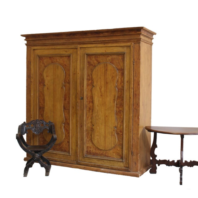 Wood Grand Antique 17th Century Tuscan Armoire For Sale - Image 7 of 13