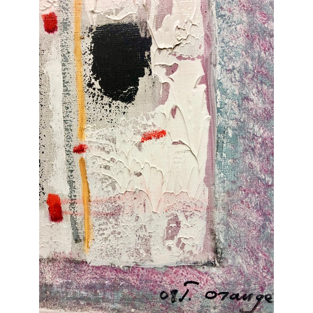 This piece is by artist Jean Orange. Growing up in an artistic family, Orange's work relates to shape, form, and color,...