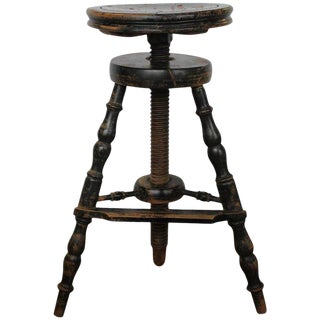 1900s French Artist's Adjustable Wood Stool For Sale