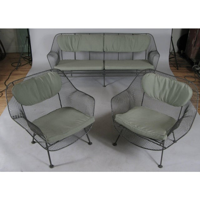Russell Woodard 1950s Sculptura Sofa and Pair of Lounge Chairs by Russell Woodard For Sale - Image 4 of 7